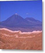 Licancabur Volcano Seen From The Atacama Desert Chile Metal Print
