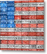 License Plate Flag Of The United States Metal Print by Design Turnpike
