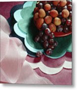 Lichees And Grapes Metal Print