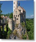 Lichtenstein Castle Metal Print by Yair Karelic