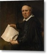 Lieven Willemsz Van Coppenol Born About 1599 Died 1671 Or Later Metal Print