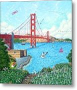 Life At The Golden Gate Metal Print