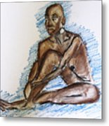 Life Drawing Study Metal Print