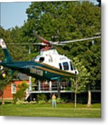 Life Flight Training Metal Print