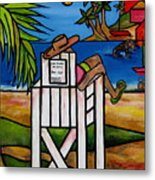 Life Guard In Jamaica Metal Print