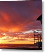 Life Guard Tower Metal Print