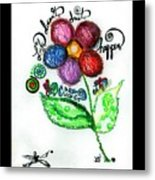 Life Is A Creation Metal Print