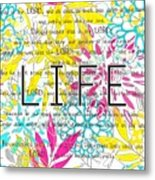 Life Is A Gift Metal Print