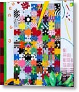 Life Is A Puzzle Metal Print