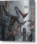 Life Is  Dance In The Rain Metal Print