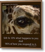 Life Is Going Eye To Eye Sometimes Metal Print