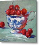 Life Is Just A Cup Of Cherry Metal Print