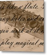 Life Is Like A Flute Metal Print