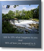 Life Is Staying Above The Debris Metal Print