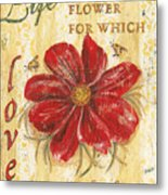 Life Is The Flower Metal Print by Debbie DeWitt
