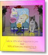 Life Is Understanding Everyday Is A New Beginning Metal Print