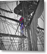 Life On The Ropes Metal Print