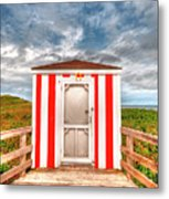Lifeguard Hut Metal Print