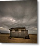Lifeguard Shack Metal Print by Evelina Kremsdorf