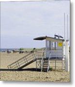 Lifeguard Station At Skegness Metal Print