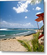 Lifeguard Station On The Beach Poipu Beach Kauai Hawaii Metal Print