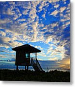 Lifeguard Station Sunrise Metal Print