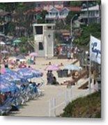 Lifeguard Tower Laguna Metal Print