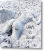 Life's A Beach By Sharon Cummings Metal Print