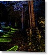 Lighit Painted Forest Scene Metal Print
