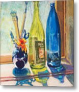 Light And Bottles Metal Print