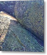 Light And Lichen On Eroded Basalt Metal Print