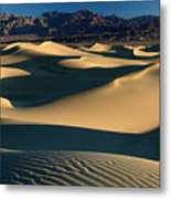 Light And Shadows In The Mesquite Sand Dunes Of Death Valley Metal Print