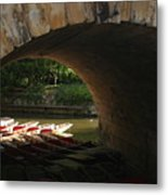 Light At The End Of The Bridge Metal Print