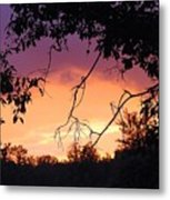 Light At The End Of The Storm  Metal Print