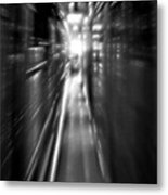 Light At The End Of The Tunnel 1 - Black And White Metal Print
