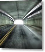 Light At The End Of The Tunnel Metal Print