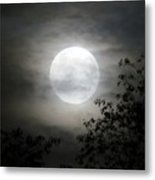 Light Behind The Clouds Metal Print