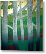 Light Between The Trees Metal Print