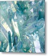 Light Blue Crystals Metal Print