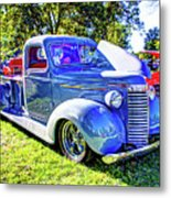 Light Blue Pickup  Metal Print