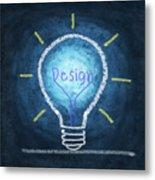 Light Bulb Design Metal Print
