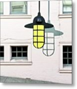 Light Bulb Mural Metal Print