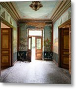 Light Come In - Deserted Castle Metal Print