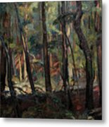 Light Dancing With Trees Metal Print