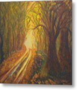 Light Down The Road Metal Print