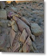 Light Fading On Valley Of Fire Metal Print