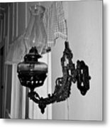 Light From The Past B W Metal Print