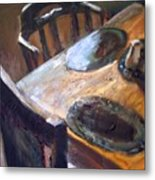 Light From The Window Metal Print