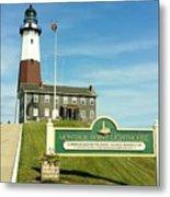 Light House At Montauk Point Metal Print