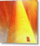 Light House At Sunset, Cape May, Nj Metal Print